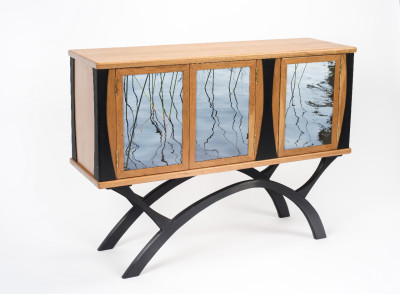 Peter Handler Handler Studio Water Grasses Sideboard,  Cherry, Anodized Aluminum, Photograph
