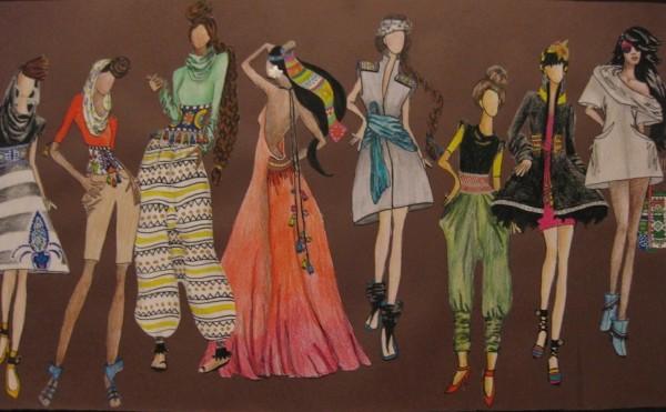 Allison Wooley, Fashion Illustration Studies, 2013, color pencil